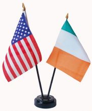 USA / IRELAND - Friendship Table Flags
